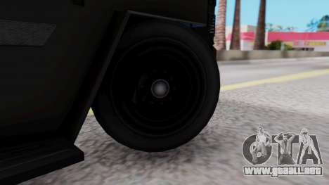 GTA 5 Enforcer Raccoon City Police Type 1 para GTA San Andreas vista posterior izquierda