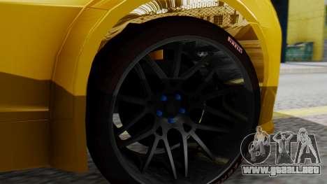 Chevrolet Camaro GT para GTA San Andreas vista posterior izquierda