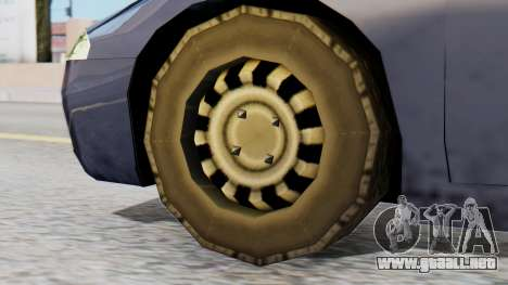 Mitsubishi Eclipse GSX SA Style para GTA San Andreas vista posterior izquierda