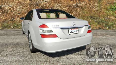 GTA 5 Mercedes-Benz S500 W221 v0.3 [Alpha] vista lateral izquierda trasera