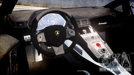 Lamborghini Aventador Roadster para GTA 4 vista interior