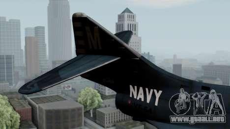 Grumman F9F-5 Phanter para GTA San Andreas vista posterior izquierda