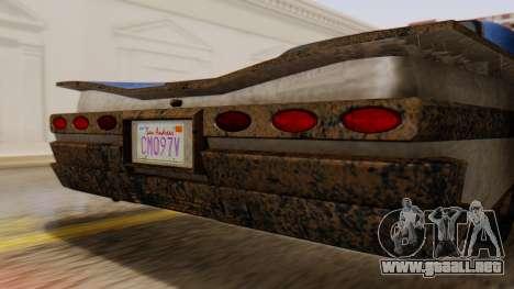 GTA 5 Declasse Voodoo Worn IVF para GTA San Andreas vista hacia atrás