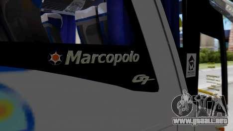 Marcopolo Bus Caribbean Travel para GTA San Andreas vista hacia atrás