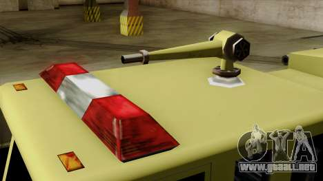 SAFD SAX Airport Engine para GTA San Andreas vista hacia atrás