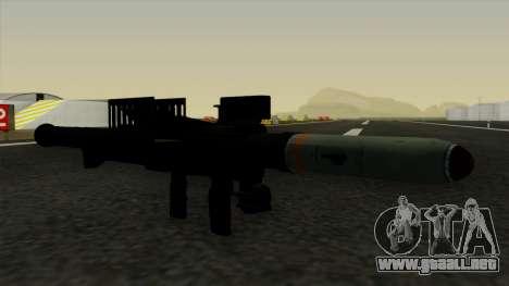 Homing Rocket Launcher para GTA San Andreas segunda pantalla