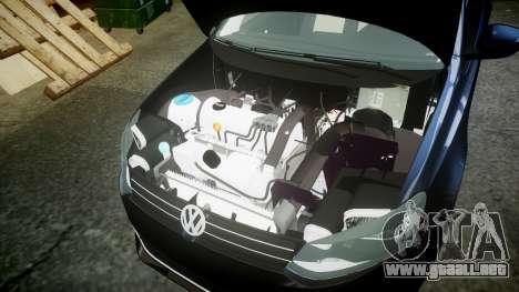 Volkswagen Polo para GTA 4 vista hacia atrás