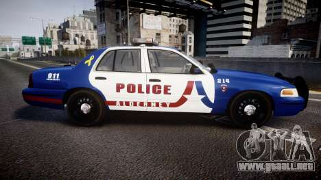 Ford Crown Victoria Alderney Police [ELS] para GTA 4 left