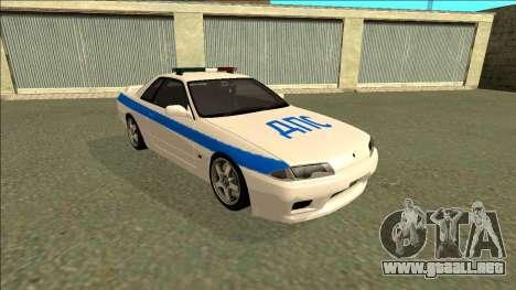 Nissan Skyline R32 Russian Police para GTA San Andreas left