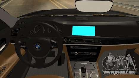 BMW 750Li 2012 para la visión correcta GTA San Andreas