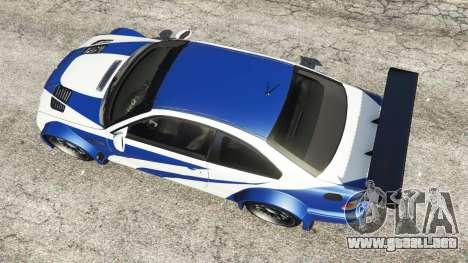 GTA 5 BMW M3 GTR E46 Most Wanted vista trasera