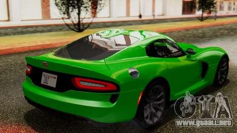 Dodge Viper SRT GTS 2013 IVF (MQ PJ) No Dirt para GTA San Andreas left