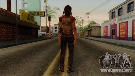 Tess from The Last of Us para GTA San Andreas tercera pantalla