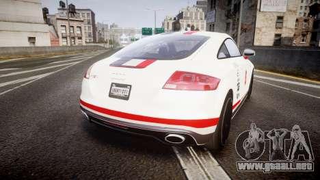 Audi TT RS 2010 Shelley para GTA 4 Vista posterior izquierda