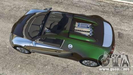 GTA 5 Bugatti Veyron Grand Sport v3.0 vista trasera
