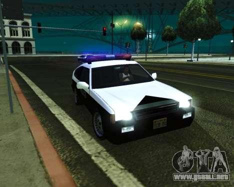 Japanese Police Car Blista para la visión correcta GTA San Andreas