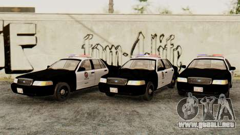 Ford Crown Victoria 2009 LAPD para GTA San Andreas