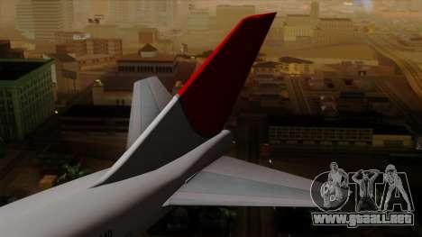 Boeing 747 JAL para GTA San Andreas vista posterior izquierda