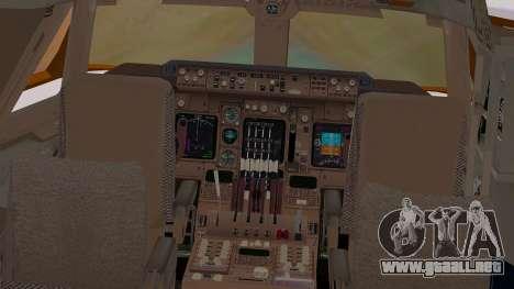Boeing 747-200 British Airways para visión interna GTA San Andreas