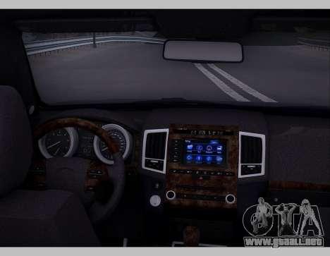 Lexus GX460 2014 para visión interna GTA San Andreas