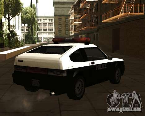 Japanese Police Car Blista para GTA San Andreas left