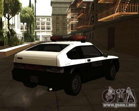 Japanese Police Car Blista para GTA San Andreas left
