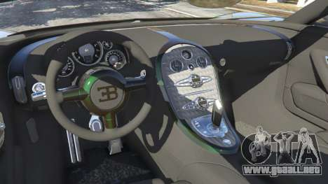 GTA 5 Bugatti Veyron Grand Sport v3.0 vista lateral trasera derecha