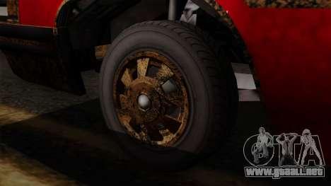 GTA 5 Albany Emperor Worn IVF para GTA San Andreas vista posterior izquierda