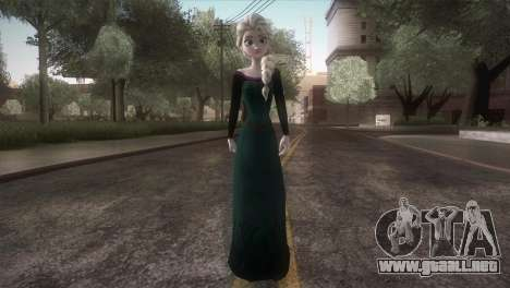 Elsa Frozen HQ Dress para GTA San Andreas segunda pantalla