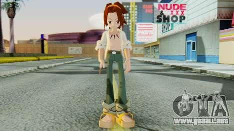 Yoh Asakura para GTA San Andreas segunda pantalla