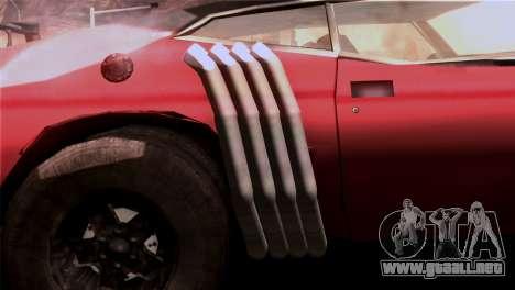 Ford Falcon XA Red Bat Mad Max 2 para visión interna GTA San Andreas