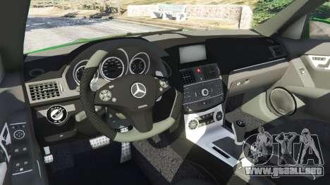 GTA 5 Mercedes-Benz C63 (W204) AMG vista lateral derecha