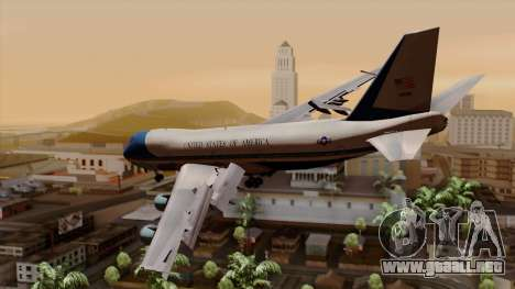 Boeing 747 Air Force One para GTA San Andreas left