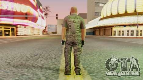 [GTA5] BlackOps2 Army Skin para GTA San Andreas tercera pantalla