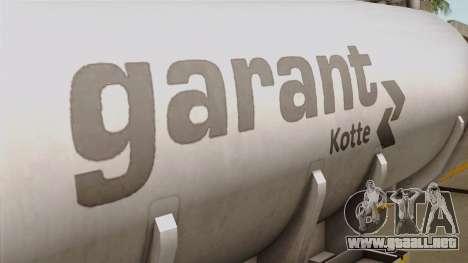 Trailer Kotte Garant para GTA San Andreas vista hacia atrás