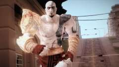 God Of War 3 Kratos Blue para GTA San Andreas