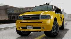 Vapid Landstalker Taxi SR 4 Style Flatshadow para GTA San Andreas