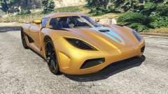 Koenigsegg Agera v0.8 [Early Beta] para GTA 5