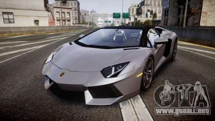Lamborghini Aventador Roadster para GTA 4