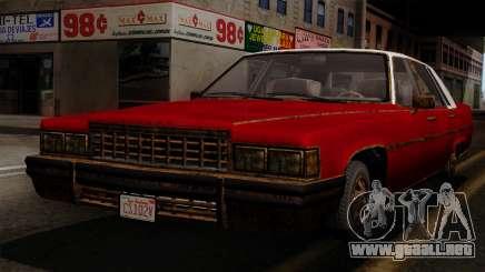 GTA 5 Albany Emperor Worn IVF para GTA San Andreas