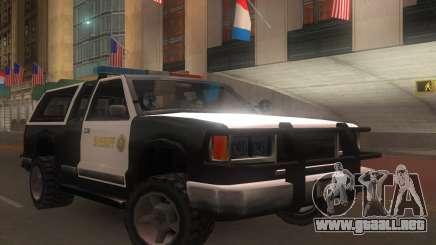 Yosemite Police 2015 para GTA San Andreas