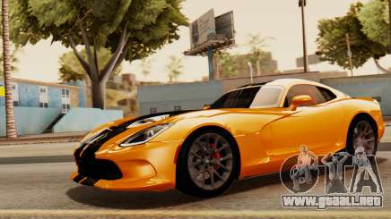 Dodge Viper SRT GTS 2013 IVF (HQ PJ) No Dirt para GTA San Andreas