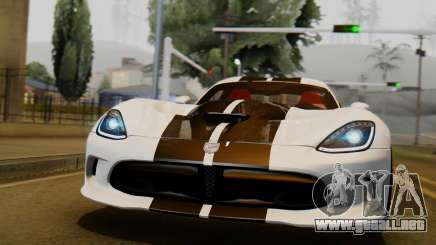 Dodge Viper SRT GTS 2013 IVF (HQ PJ) LQ Dirt para GTA San Andreas