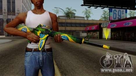Brasileiro M4 v2 para GTA San Andreas
