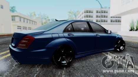 Mercedes-Benz W221 para GTA San Andreas left