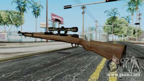 Kar98k Scope from Battlefield 1942 para GTA San Andreas segunda pantalla