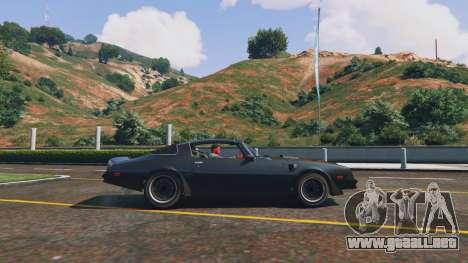 GTA 5 Pontiac Trans Am 1977 vista lateral izquierda