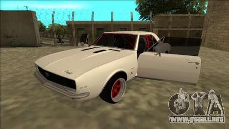 Chevrolet Camaro SS Drift para GTA San Andreas vista hacia atrás