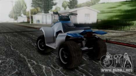 Updated Quad para GTA San Andreas vista posterior izquierda