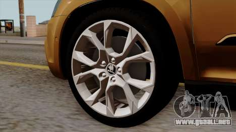 Skoda Yeti 2014 para GTA San Andreas vista posterior izquierda